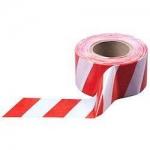 Лента оградительная ЛО-250 Эконом 35 мкм, бело-красная (250пм х 75 мм)