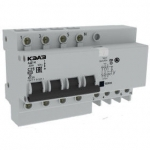 Дифференциальный автомат АД14-44C63-АC-УХЛ4-КЭАЗ (4P, C63, 300mA)