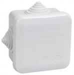Коробка КМ41236 распаячная для о/п 70х70х40мм IP44 (RAL7035, 4 гермоввода, защелкивающаяся крышка) ИЭК UKOZ11-070-070-040-K41-44
