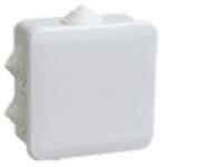 Коробка КМ41255 распаячная для о/п 100х100х50мм IP44 (RAL7035, 6 гермовводов, защелкивающаяся крышка) ИЭК UKOZ11-100-100-050-K41-44