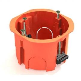 Коробка КМ40022 установочная d65х46мм для полых стен (с саморезами, пластиковые лапки) ИЭК UKG10-065-040-000-P
