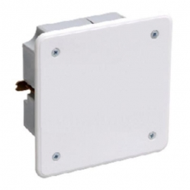 Коробка КМ41021 распаячная 92х92x45мм для полых стен (с саморезами, метал. лапки, с крышкой ) ИЭК UKG11-092-092-040-M