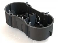 Коробка КМ40007 устан. 2 мест. для тв.ст. 141x70x45 (с сам.) ИЭК UKT20-141-070-045
