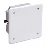 Коробка КМ41001 распаячная для тв.стен 92x92x45мм (с саморезами, с крышкой) ИЭК UKT11-092-092-040