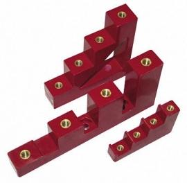 Изолятор ступенчатый ИС4-25/1-15 (4 x М6; 1 x М5) силовой с болтом ИЭК YIS11-5-25-B