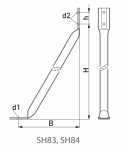 Ригель крепления деревянной стойки SH83 Ensto